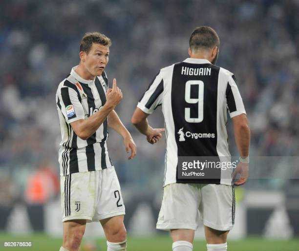Stephan Lichtsteiner of Juventus player and Gonzalo Higuain of Juventus player during the match valid for Italian Football Championships Serie A...
