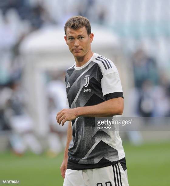 Stephan Lichtsteiner of Juventus player during the warmup before the match valid for Italian Football Championships Serie A 20172018 between FC...