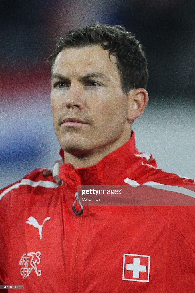 <a gi-track='captionPersonalityLinkClicked' href=/galleries/search?phrase=Stephan+Lichtsteiner&family=editorial&specificpeople=709876 ng-click='$event.stopPropagation()'>Stephan Lichtsteiner</a> of Switzerland stands for the national anthem prior the international friendly match between Switzerland and Croatia at the AFG Arena on March 5, 2014 in St Gallen, Switzerland.