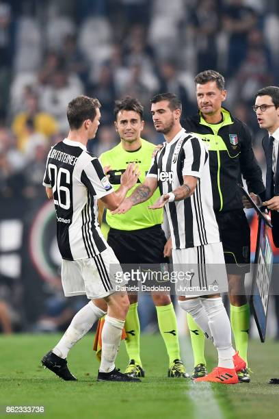 Stephan Lichtsteiner substituted by Stefano Sturaro during the Serie A match between Juventus and SS Lazio on October 14 2017 in Turin Italy
