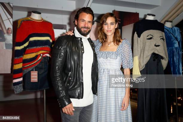 Stephan Luca and Alexa Chung attend the UZwei Store Opening on September 6 2017 in Hamburg Germany