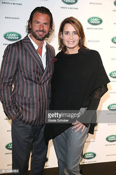 Stephan Luca and Anja Kling during the world premiere of the allnew Land Rover Discovery at Packington Hall park on September 28 2016 in Birmingham...