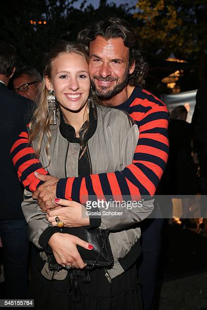 Stephan Luca and his daughter Emely Luca during the Iris von Arnim by Unuetzer launch party of the cashmere sneaker at Bob Beaman Club on July 5 2016...
