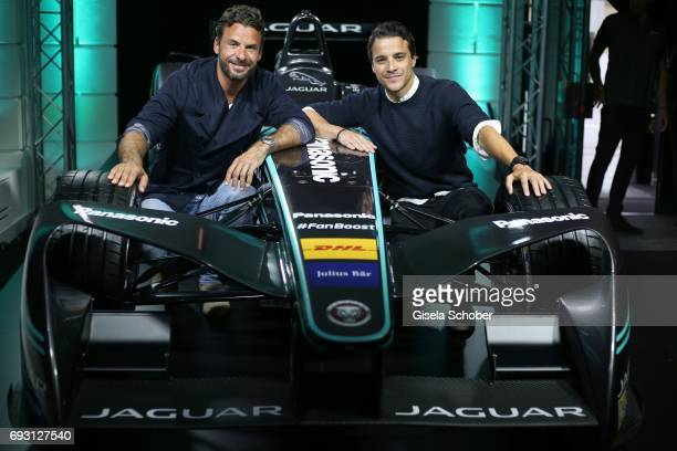 Stephan Luca and Kostja Ullmann during the Jaguar Land Rover presentation of the 'IPACE' car concept at Jaguar Land Rover brand boutique on June 6...