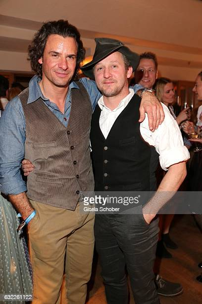 Stephan Luca and Maximilian Brueckner during the Weisswurstparty at Hotel Stanglwirt on January 20 2017 in Going near Kitzbuehel Austria
