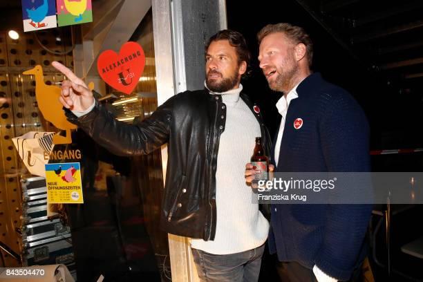 Stephan Luca and Valentin von Arnim attend the UZwei Store Opening on September 6 2017 in Hamburg Germany