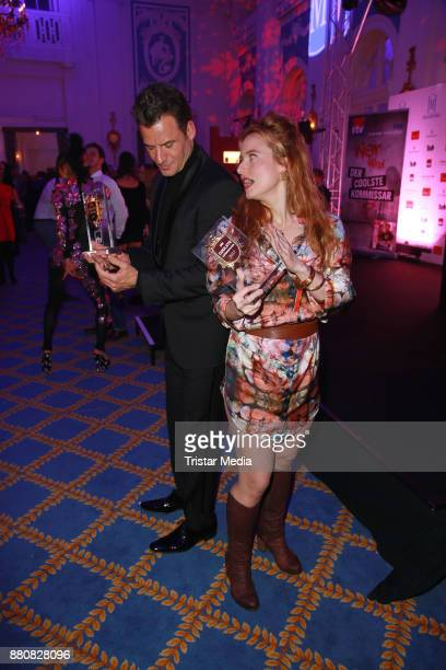 Stephan Luca and Wanda Perdelwitz attend the Movie Meets Media event 2017 at Hotel Atlantic Kempinski on November 27 2017 in Hamburg Germany
