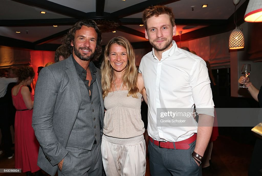 <a gi-track='captionPersonalityLinkClicked' href=/galleries/search?phrase=Stephan+Luca&family=editorial&specificpeople=5770629 ng-click='$event.stopPropagation()'>Stephan Luca</a>, Kerstin Landsmann and Steve Windolf during the Peugeot BVC Casting Night during the Munich Film Festival 2016 at Kaeferschaenke on June 26, 2016 in Munich, Germany.