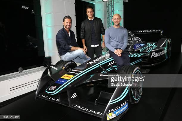 Stephan Luca Kostja Ullmann and Juergen Vogel during the Jaguar Land Rover presentation of the 'IPACE' car concept at Jaguar Land Rover brand...