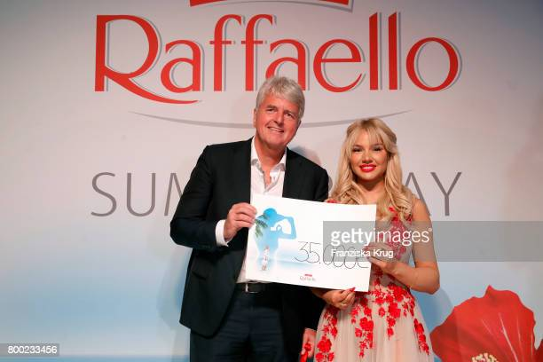 Stephan Niessner and Shirin David attend the Raffaello Summer Day 2017 to celebrate the 27th anniversary of Raffaello on June 23 2017 in Berlin...