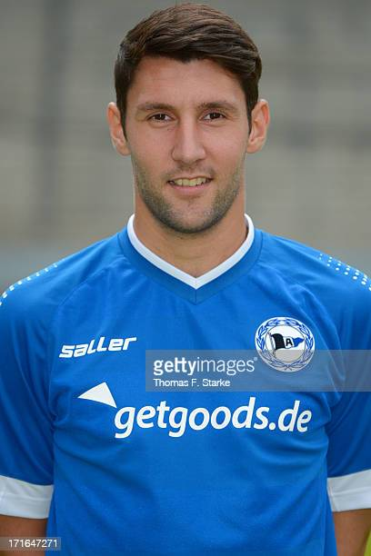 Stephan Salger poses during the Second Bundesliga team presentation of Arminia Bielefeld at Schueco Arena on June 27 2013 in Bielefeld Germany