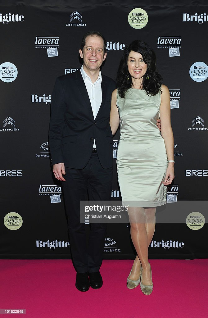 Stephan Schaefer and Brigitte Huber (chief editors) attend Brigitte Fashion Event 2013 at Hamburg Cruise Center on February 16, 2013 in Hamburg, Germany.