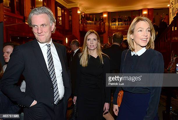 Stephan Schwarz parnter of designer Jette Joop and Julia Jaeckel CEO of Gruner und Jahr publishers house at a celebration hosted by Die Zeit...
