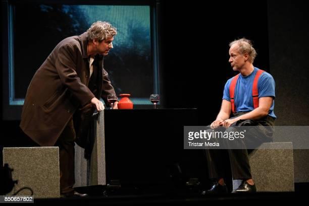 Stephan Szasz and Jochen Horst during the 'Und Gott sprach Wir muessen reden' rehearsal photo call at Komoedie am Kurfuerstendamm on September 21...