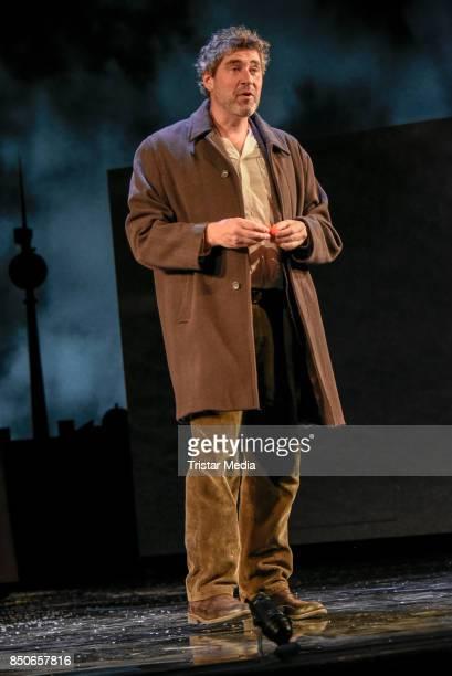 Stephan Szasz during the 'Und Gott sprach Wir muessen reden' rehearsal photo call at Komoedie am Kurfuerstendamm on September 21 2017 in Berlin...