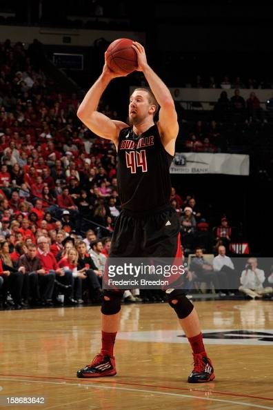 Stephan Van Treese of the Louisville Cardinals plays against of the Western Kentucky Hilltoppers at Bridgestone Arena on December 22 2012 in...