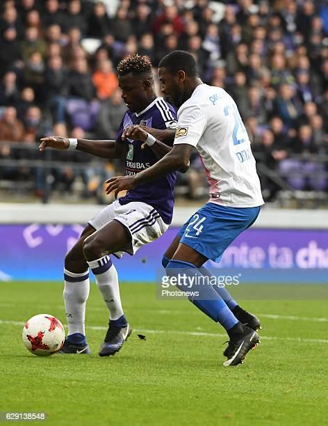 Stephane Badji midfielder of RSC Anderlecht and Stefano Denswil defender of Club Brugge during the Jupiler Pro League match between Club Brugge KV...
