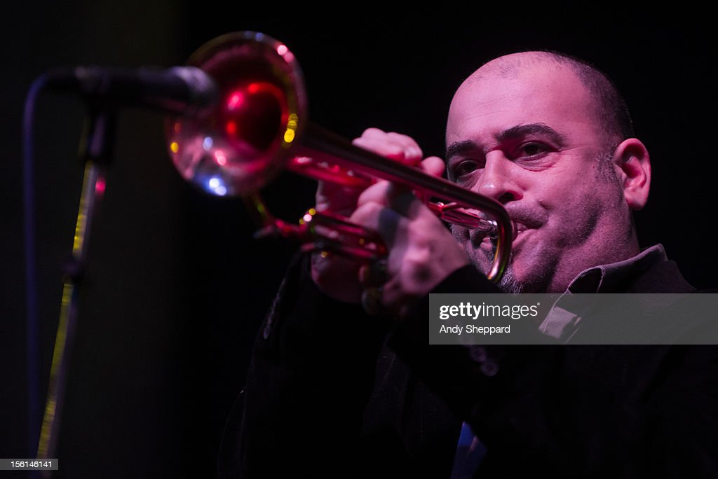 Stephane Belmondo performs on stage with the Stephane Belmondo Quartet during the London Jazz Festival 2012 on November 10, 2012 in London, United Kingdom.