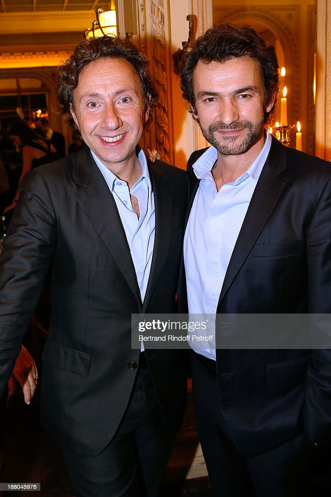 Stephane Bern and Architect Cyril Vergniol attend the 50th Anniversary party of Stephane Bern, called 'Half a century, it's party', celebrated at Angelina on November 14, 2013 in Paris, France.