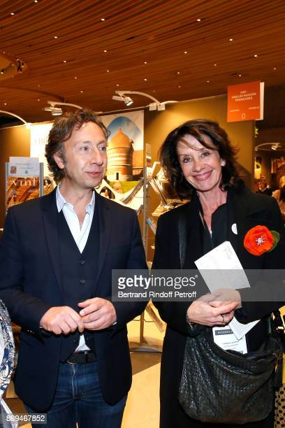 Stephane Bern and Deputy Mayor of Rochefort responsible for Culture Cultural Heritage Tourism and Major Projects Florence Lecossois attend the...