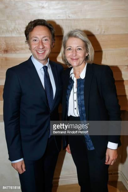 Stephane Bern and Deputy of 'Eure et Loire' Laure de la Raudiere attend Members of the Stephane Bern's Foundation for 'L'Histoire et le Patrimoine'...
