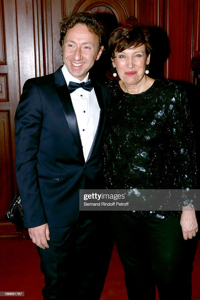 Stephane Bern and Roselyne Bachelot Narquin attend Tricentenary of the French dance school, AROP Gala, at Opera Garnier on April 15, 2013 in Paris, France.