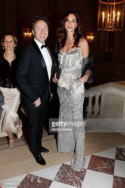 Stephane Bern and Tasha Vasconcelos attend the David Khayat Association 'AVEC' Gala Dinner at Chateau de Versailles on January 30 2012 in Versailles...