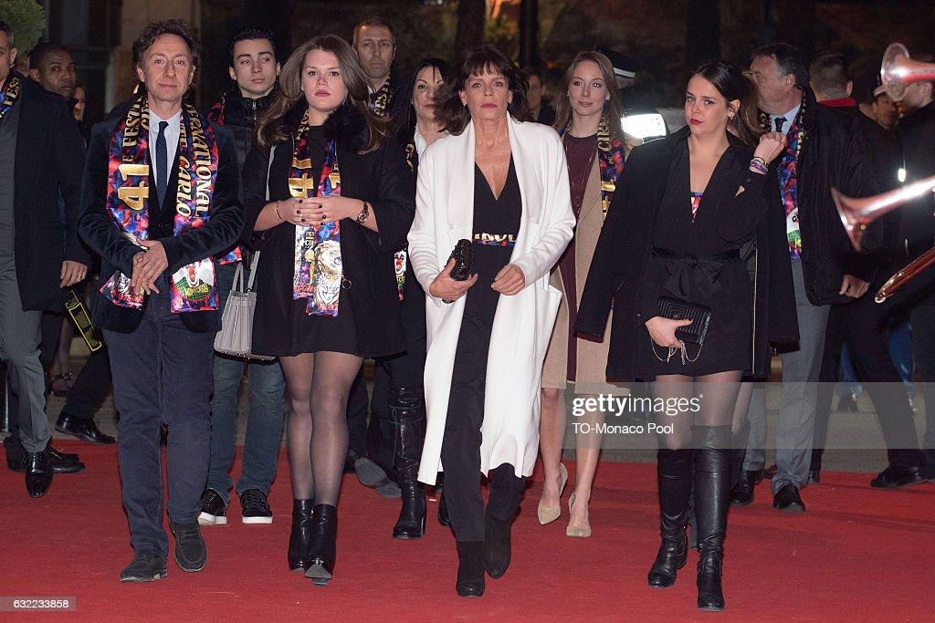 Stephane Bern, Camille Gottlieb, Princess Stephanie of Monaco, and Pauline Ducruet attend the 41th Monte-Carlo International Circus Festival on January 20 , 2017 in Monte-Carlo, Monaco.