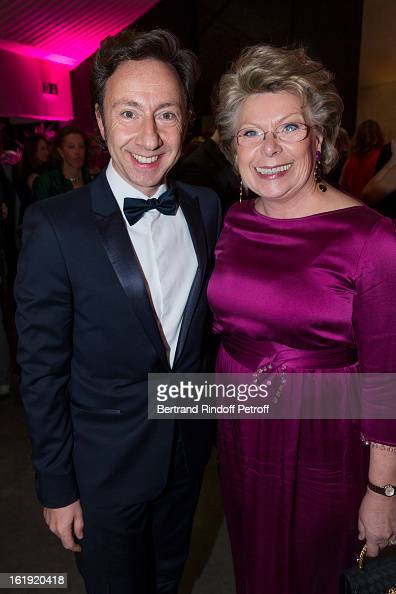 Stephane Bern French journalist and author and Viviane Reding VicePresident of the European Commission attend the 30th edition of 'La Nuit Des...