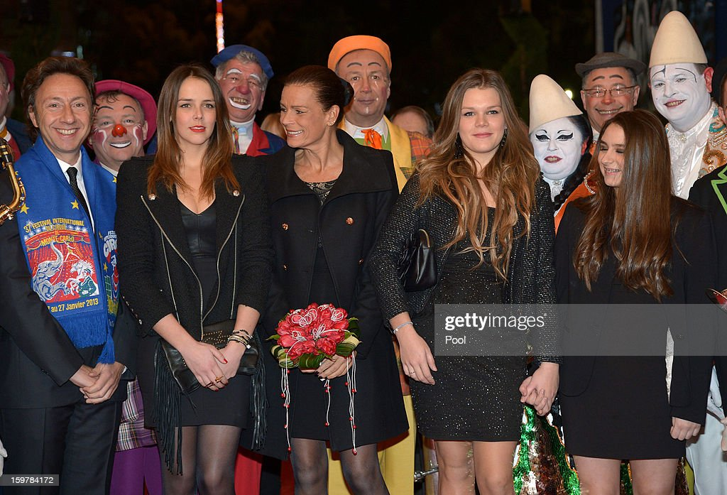Stephane Bern, Pauline Ducruet, Princess Stephanie of Monaco and Camille Gottlieb attend day three of the Monte-Carlo 37th International Circus Festival on January 19, 2013 in Monte-Carlo, Monaco.