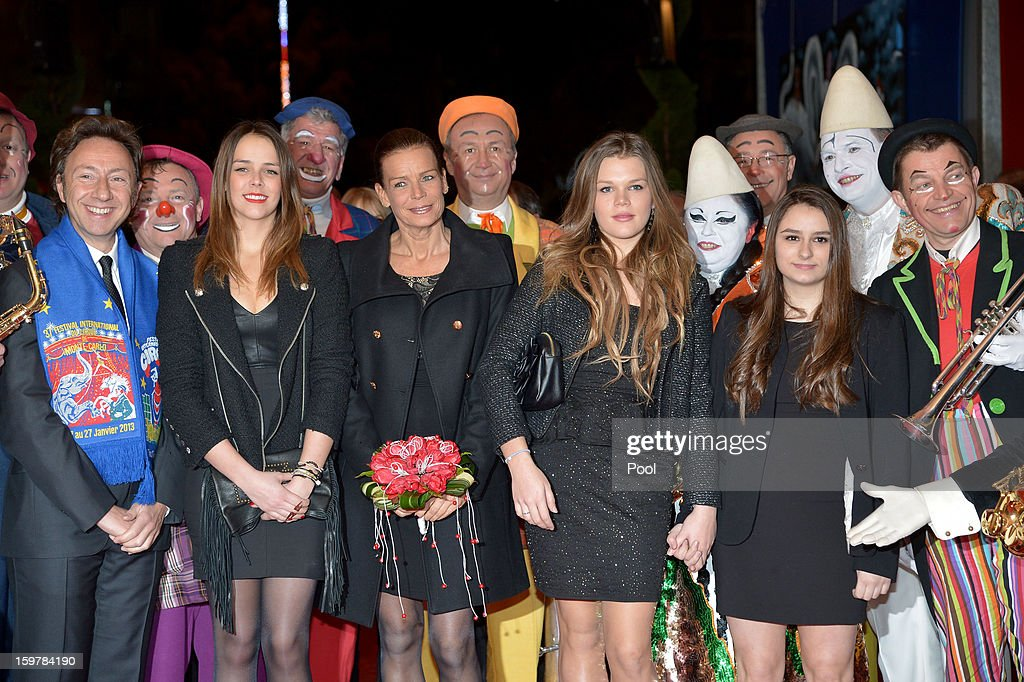 Stephane Bern, <a gi-track='captionPersonalityLinkClicked' href=/galleries/search?phrase=Pauline+Ducruet&family=editorial&specificpeople=2084053 ng-click='$event.stopPropagation()'>Pauline Ducruet</a>, Princess Stephanie of Monaco and Camille Gottlieb attend day three of the Monte-Carlo 37th International Circus Festival on January 19, 2013 in Monte-Carlo, Monaco.