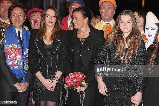 Stephane Bern Pauline Ducruet Princess Stephanie of Monaco and Camille Gottlieb attend the 37th International Circus Festival on January 19 2013 in...