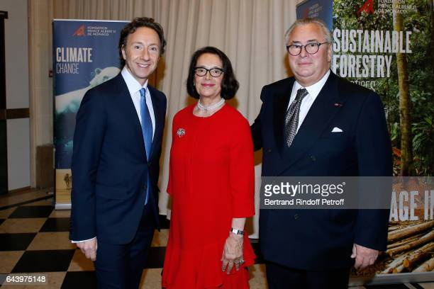 Stephane Bern with Owners of the Salle Gaveau JeanMarie and his wife Chantal attend the celebration of the 10th Anniversary of the 'Fondation Prince...