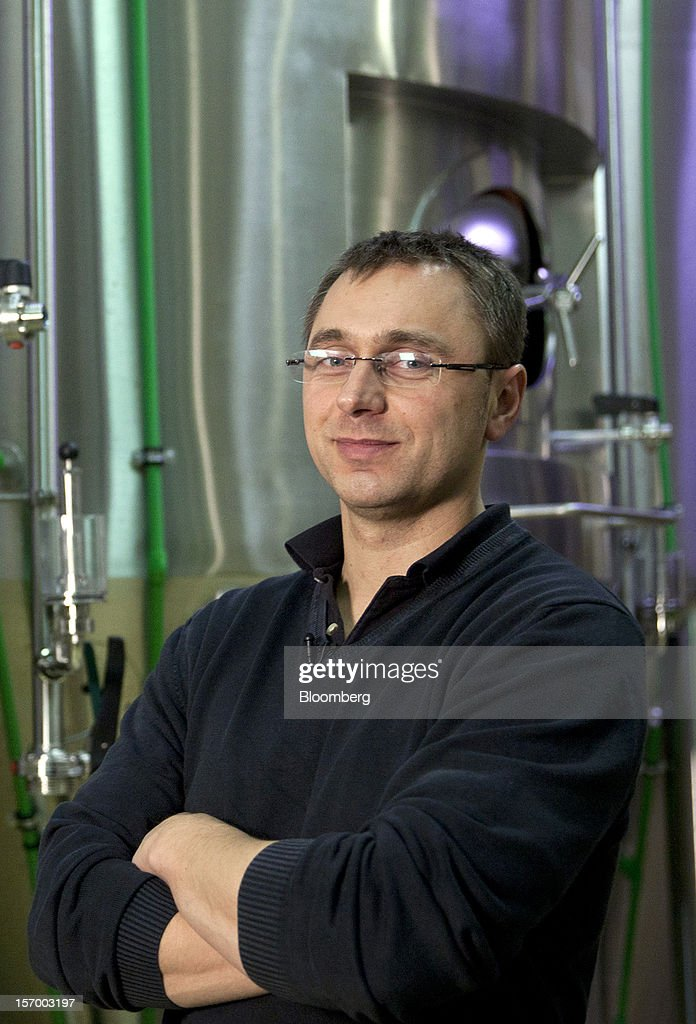 Stephane Bogaert, co-chief executive officer of Brasserie Saint Germain, producers of Page 24 beers, poses for a photograph at the brewery in Aix-Noulette, in France, on Monday, Nov. 26, 2012. Producers of beer in France, for instance, say any development plans they had have been 'nipped in the bud' by Hollande's plan to boost the tax on the drink next year. Photographer: Balint Porneczi/Bloomberg via Getty Images