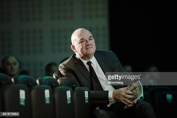 Stephane Boujnah chief executive officer of Euronext NV looks on as he sits in the audience during the exchange's annual news conference in Paris...