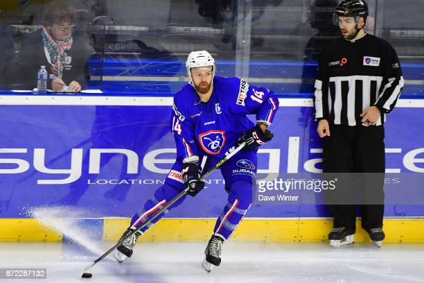 Stephane Da Costa of France during the EIHF Ice Hockey Four Nations tournament match between France and Slovenia on November 9 2017 in Cergy France