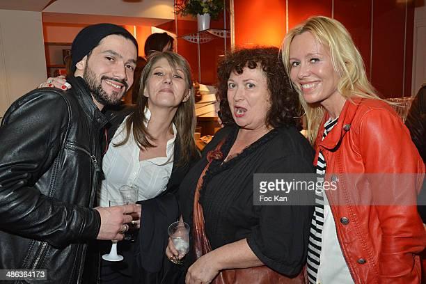 Stephane Davi Cecile Chevillon Dawn McDaniel and Josy Foichat attend 'L'Etat Sauvage' Paris Premiere at Cinema Arlequin on April 23 2014 in Paris...