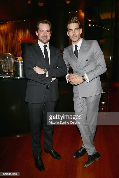 Stephane Gerschel and Jon Kortajarena attend Epicurea Food Festival At The Bulgari Hotel Milan on December 3 2013 in Milan Italy