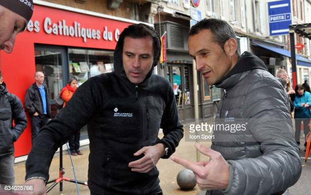 Stephane Goubert and Cyril Dessel Sports directors of Ag2r La Mondiale during the stage 5 of the Etoile of Besseges from Ales to Ales on February 5th...