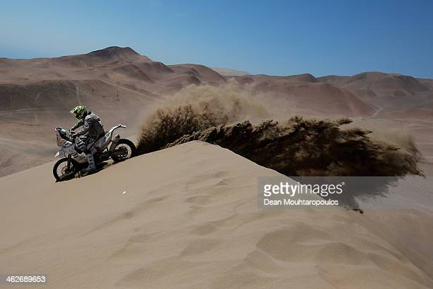 Stephane Hamard of France for KTM Reunion Rallye Raid competes in stage 9 during Day 10 of the 2014 Dakar Rally on January 14 2014 in Iquique Chile