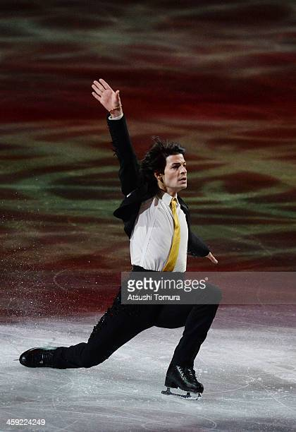 Stephane Lambiel of Switzerland performs his routine in the Gala exhibition during All Japan Figure Skating Championships at Saitama Super Arena on...
