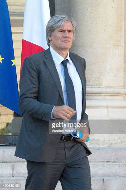 Stephane Le Foll French Minister of Agriculture and Forestry Gouvernment Spokesman leaves the Elysee Palace after the weekly cabinet meeting on...