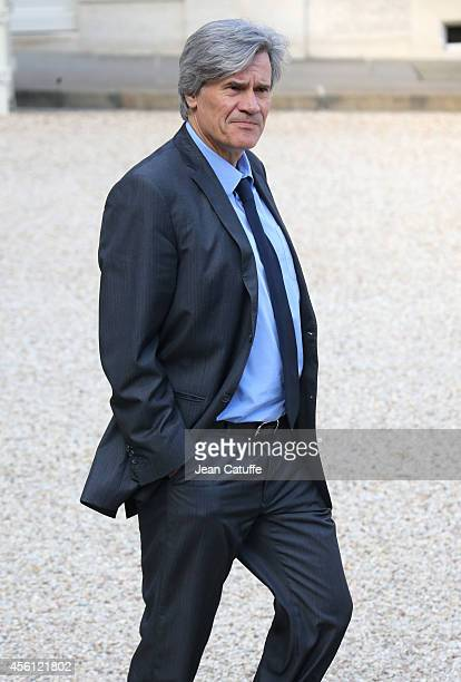 Stephane Le Foll French Minister of Agriculture and Spokesperson of the Government attends the 'Conseil des Ministres' the weekly Cabinet meeting...