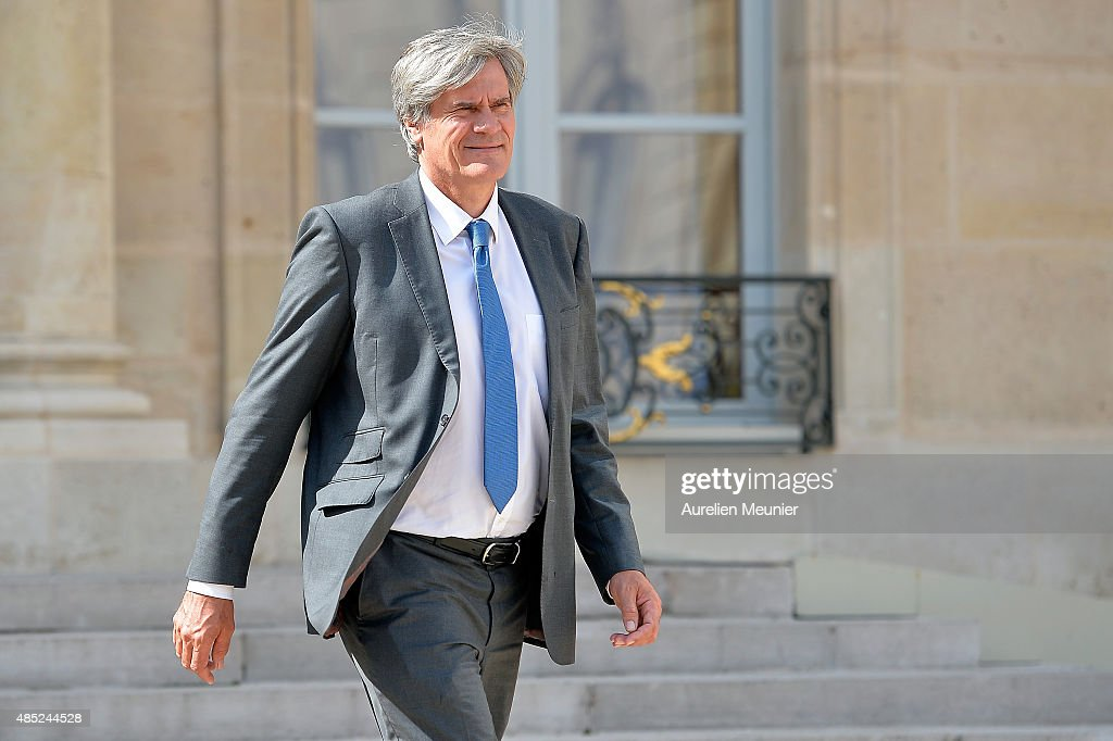 Stephane Le Foll, French Minister of Agriculture, Food and Forestry, Government Spokesman leaves the Elysee Palace after the weekly cabinet meeting on August 26, 2015 in Paris, France.
