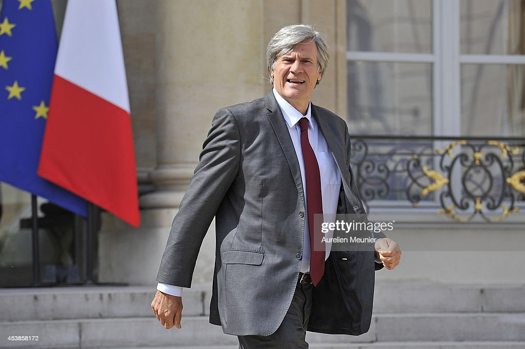 Stephane Le Foll, Minister of Agriculture, Food and Forestry, Government Spokesman attends a cabinet meeting at Elysee Palace on August 20, 2014 in Paris, France.