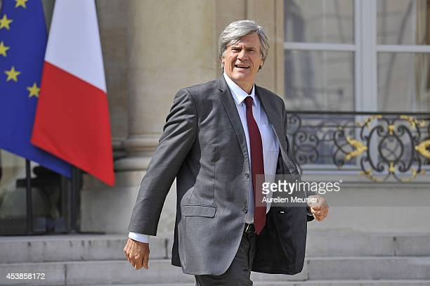 Stephane Le Foll Minister of Agriculture Food and Forestry Government Spokesman attends a cabinet meeting at Elysee Palace on August 20 2014 in Paris...