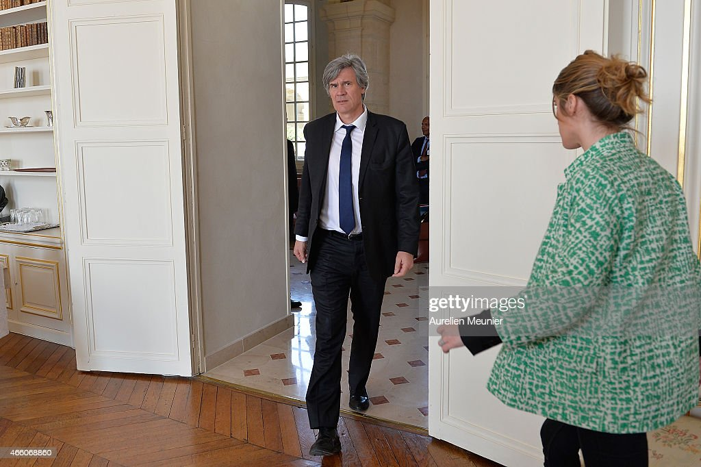 Stephane Le Foll, Minister of Agriculture, Food and Forestry, Government Spokesman visits the prefecture of Aisne on March 13, 2015 in Laon, France. The purpose of the visit is to discuss and promote rurality at a interdepartmental committee meeting under the theme 'Our ruralities: an opportunity for France', ahead of the departmental elections on March 22 and 29.