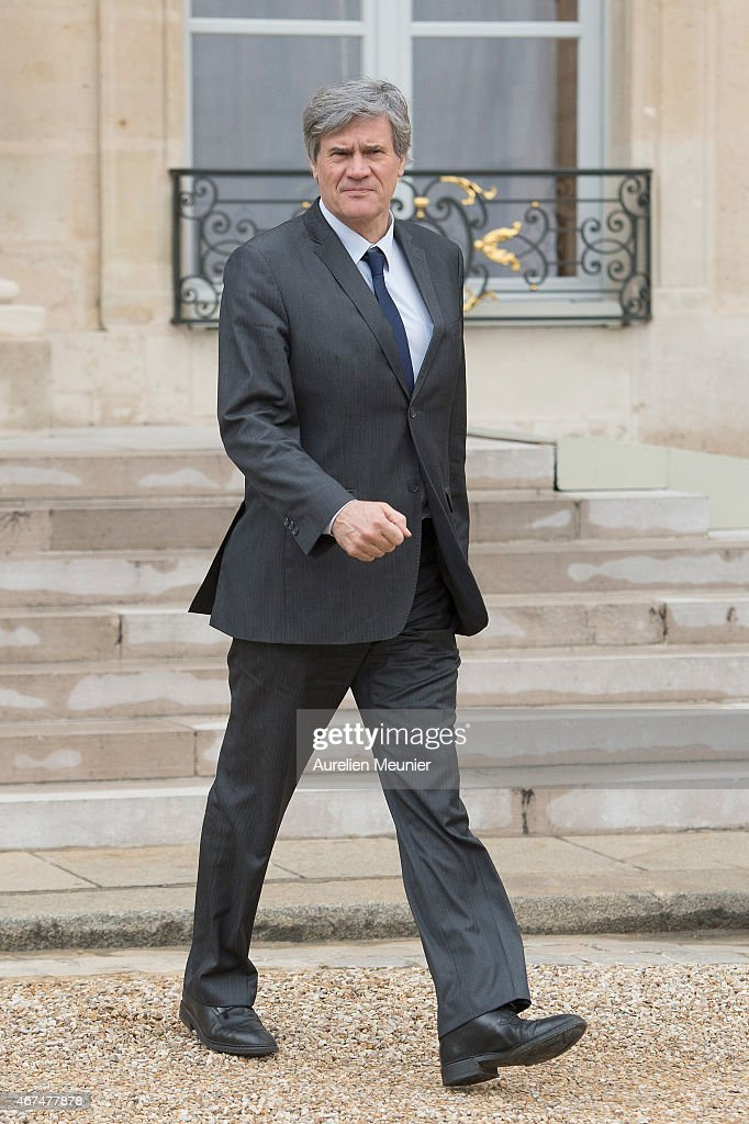 Stephane Le Foll, Minister of Agriculture, Food and Forestry, Government Spokesman leaves the Elysee Palace after the weekly cabinet meeting on March 25, 2015 in Paris, France.