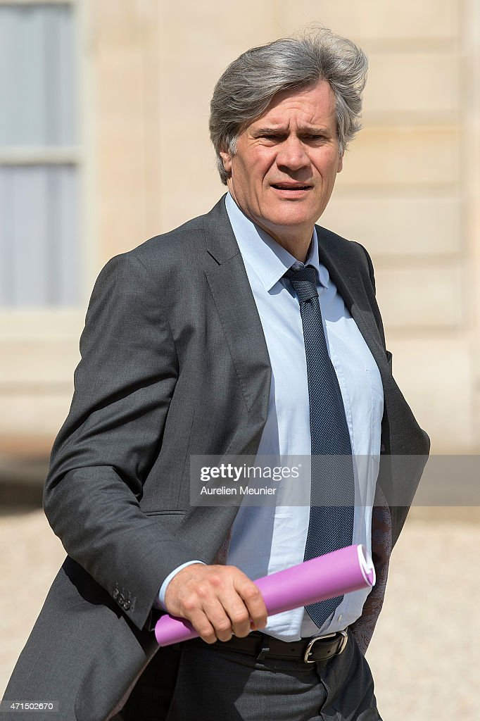 Stephane Le Foll, Minister of Agriculture, Food and Forestry, Government Spokesman leaves the Elysee Palace after the weekly cabinet meeting on April 29, 2015 in Paris, France.