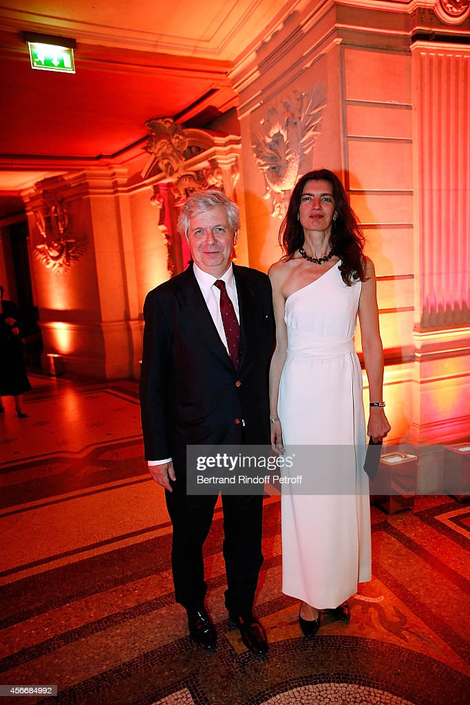 Stephane Lissner and his wife Valentina attend for the tribute to Brigitte Lefevre on October 4, 2014 in Paris, France.
